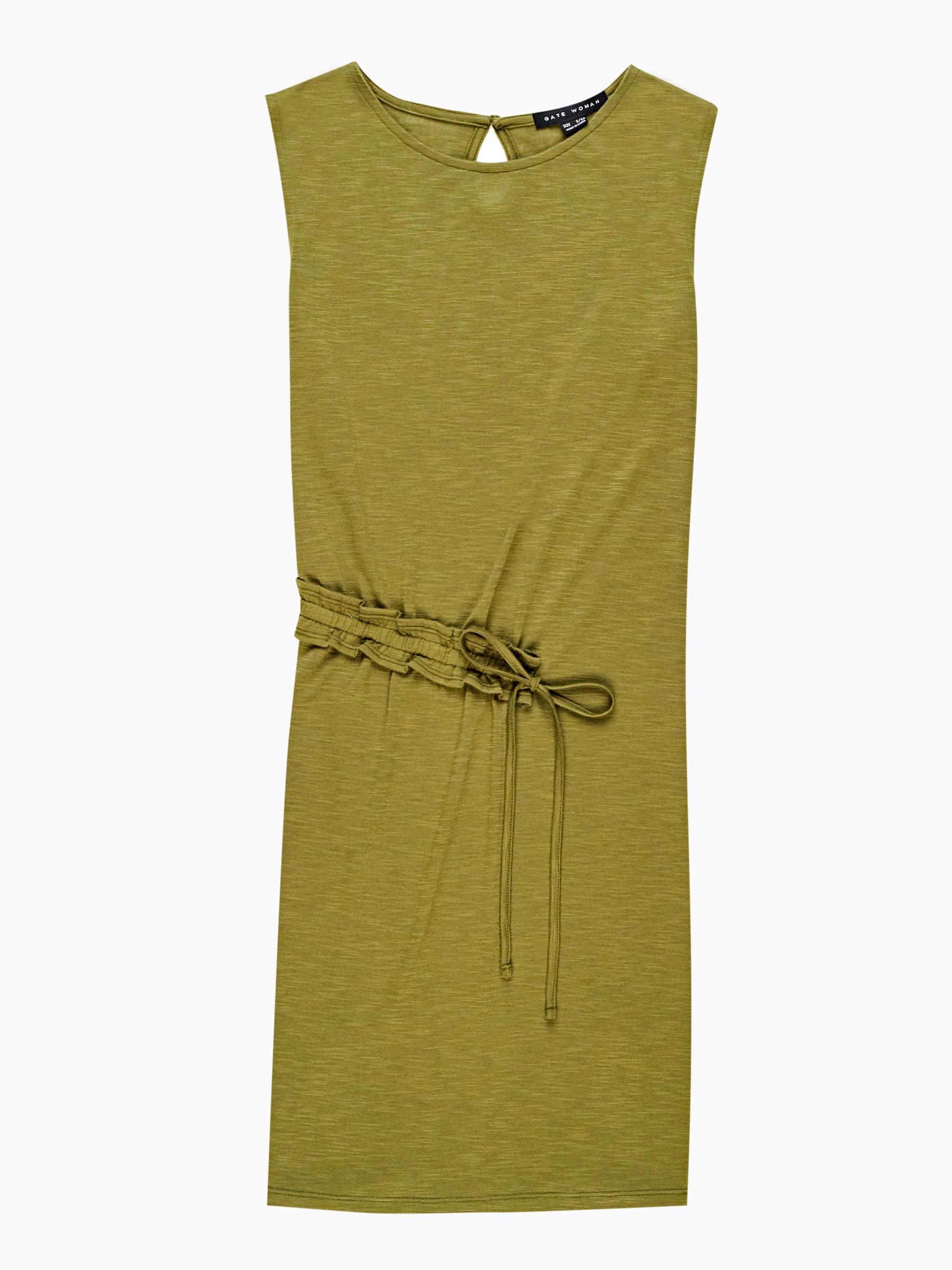 GATE Úpletové šaty s riaseným detailom