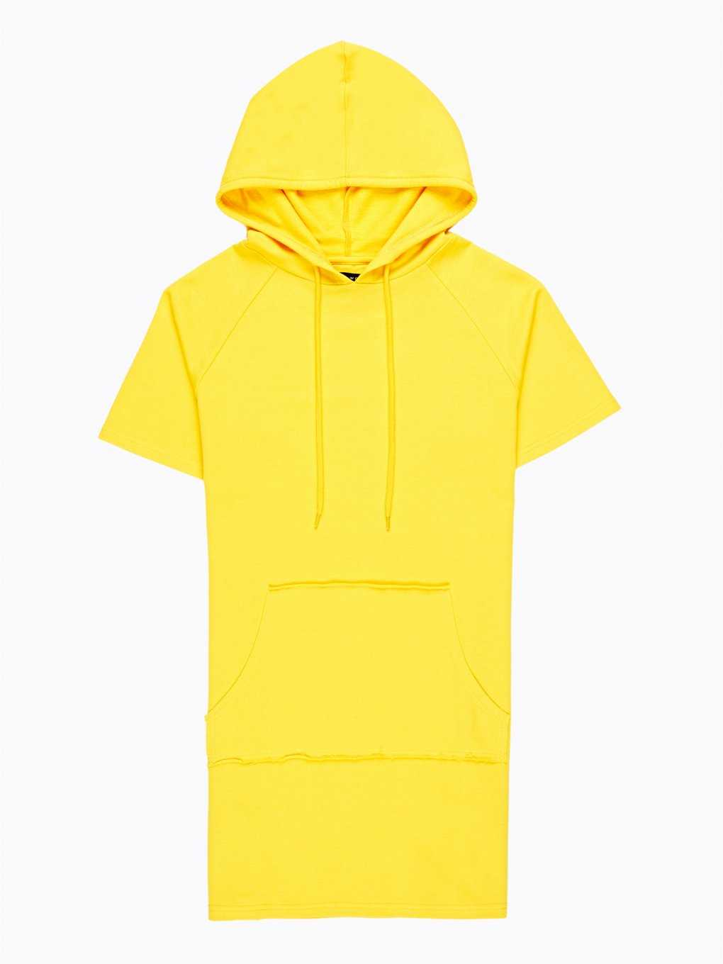 Longline hoodie with lacing