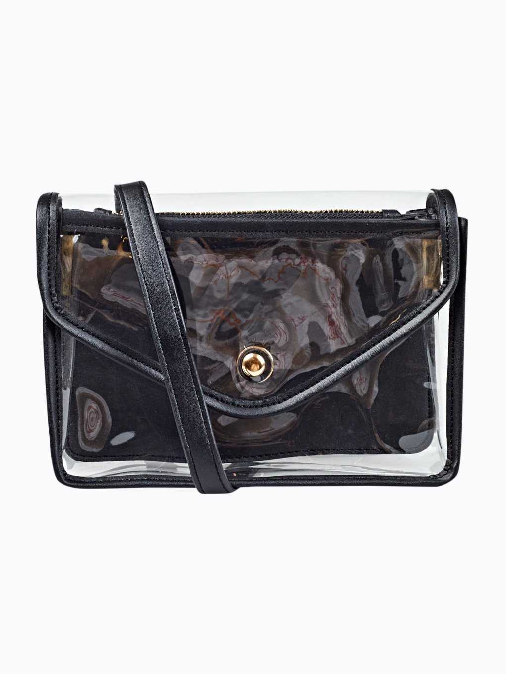 Transparent cross body mini bag