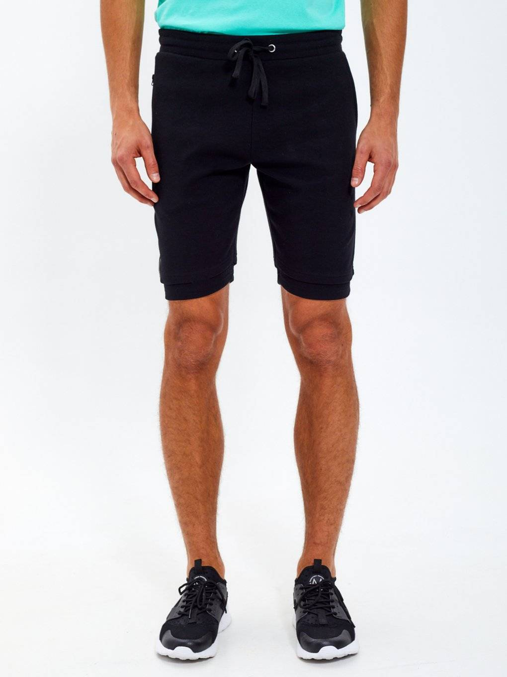 Long zipper sweatshorts