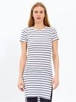 Longline striped t-shirt