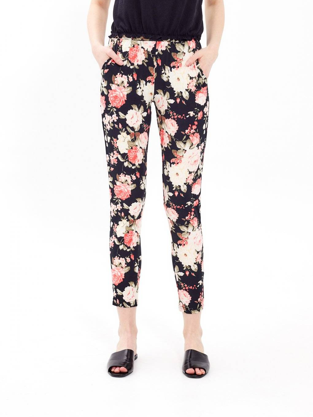 Flower print trousers