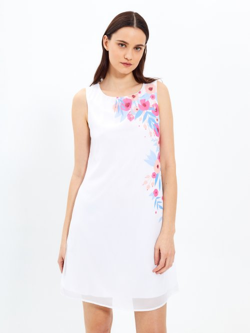 A-line dress with print