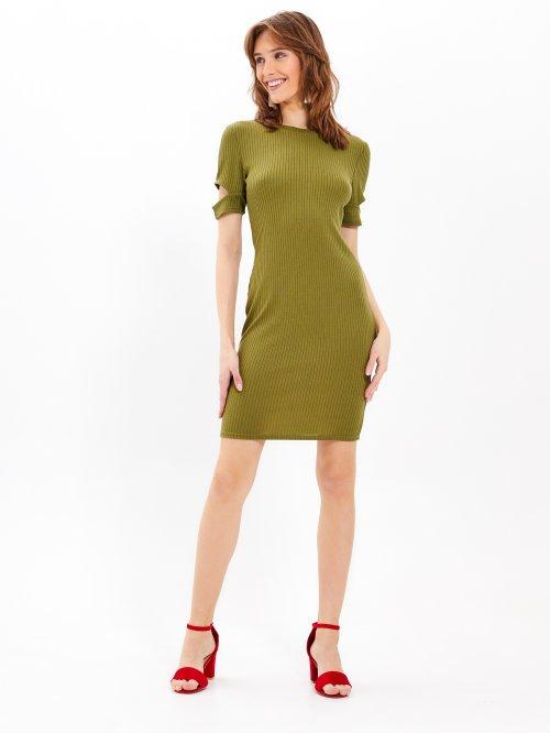 514c250cdf8d Rebrované puzdrové šaty