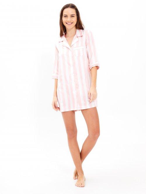 cc738e9d8 Prúžkovaná saténová nočná košeľa
