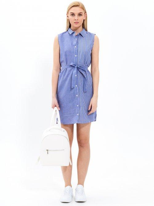 4e841c10da84 Prúžkované košeľové šaty s opaskom