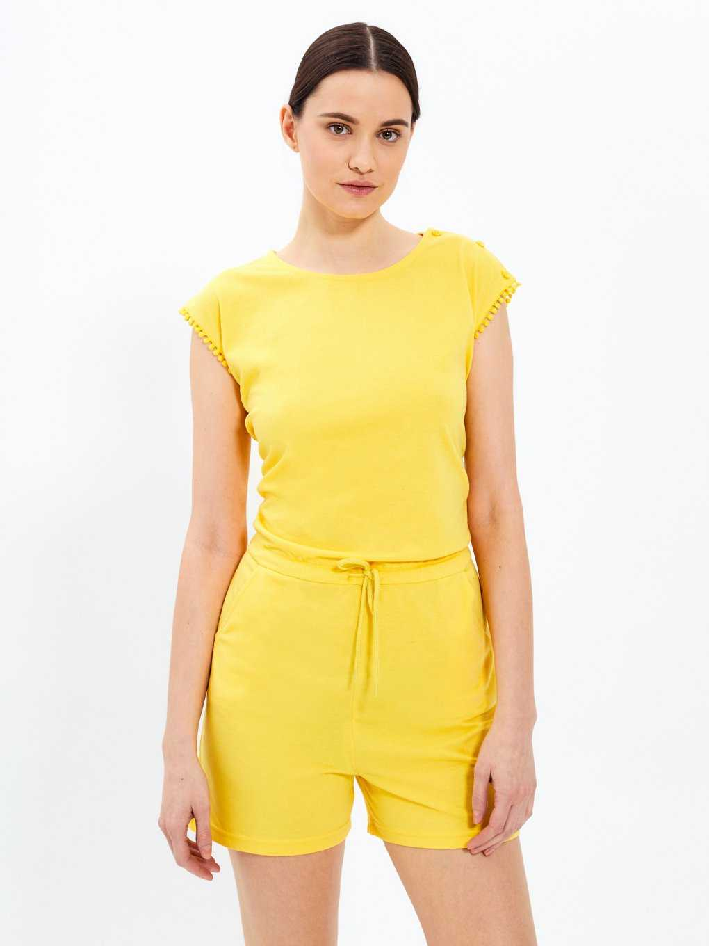 Short jersey jumpsuit