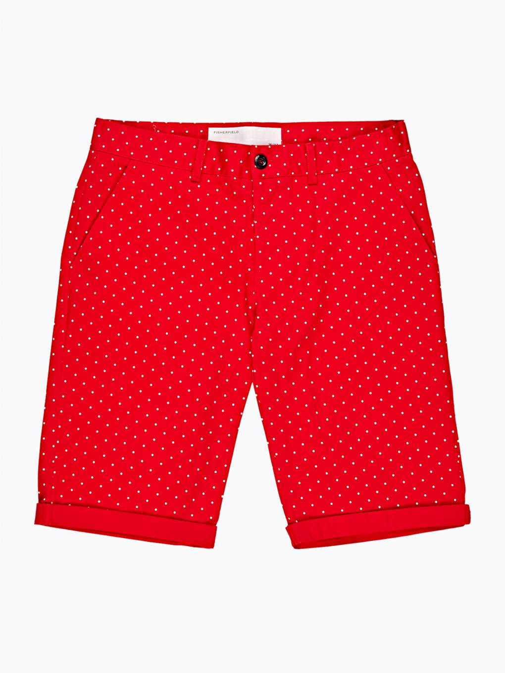 Polka dot print stretch shorts