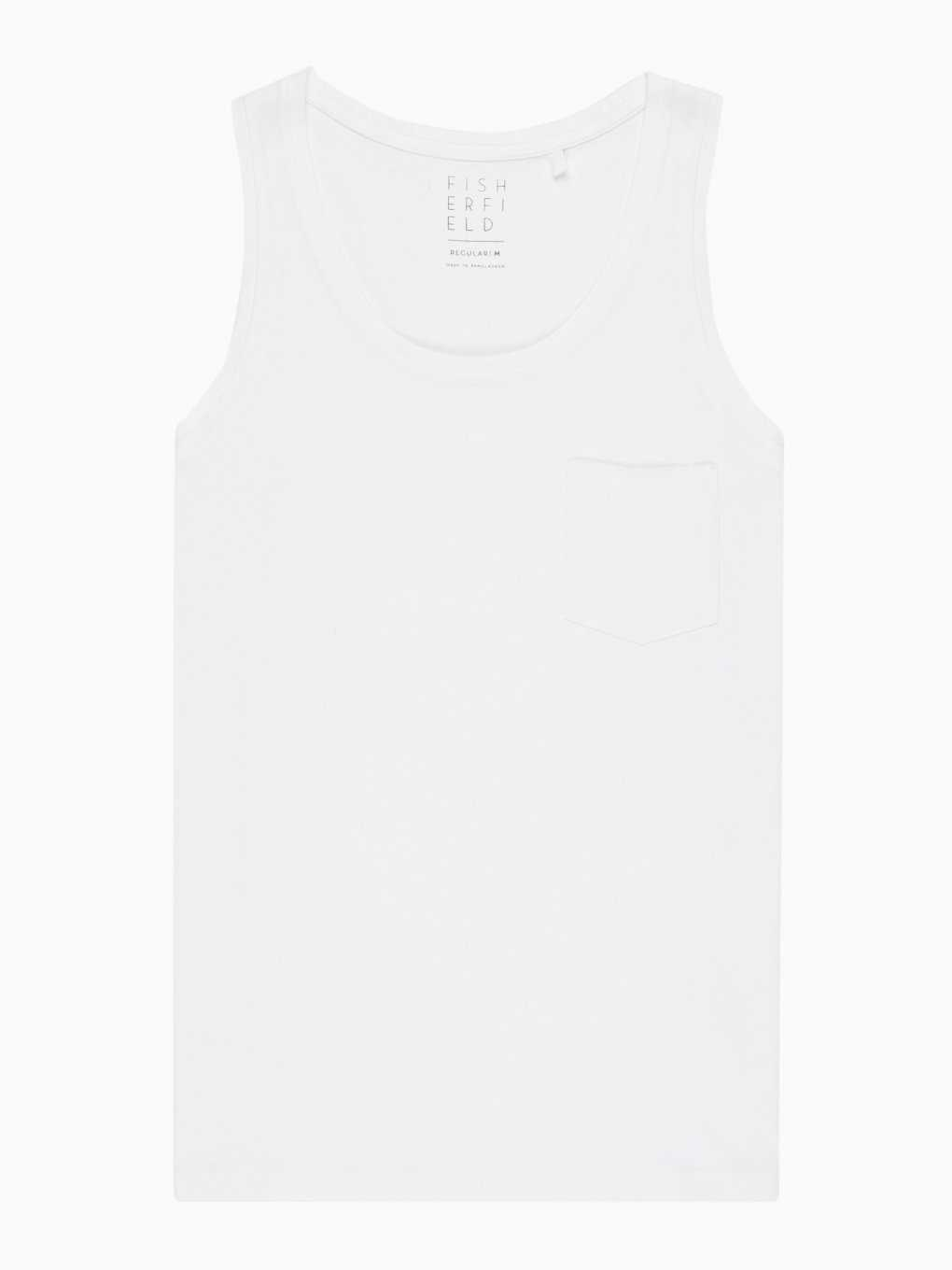 Tank top with chest pocket