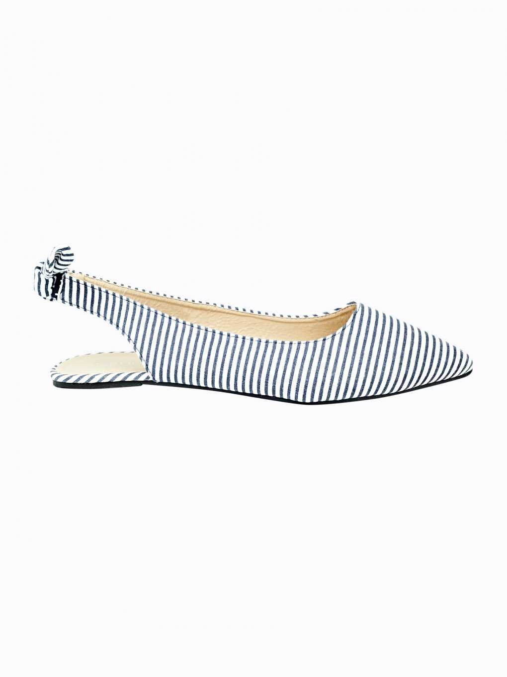 Striped ballerinas