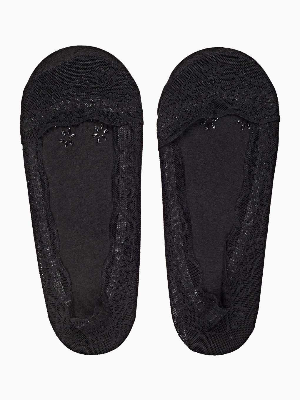 2-pack lace footies