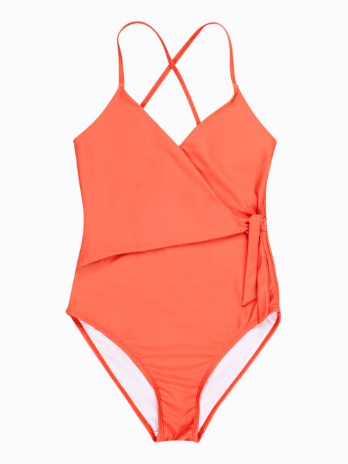 Swimsuit with wrap top part