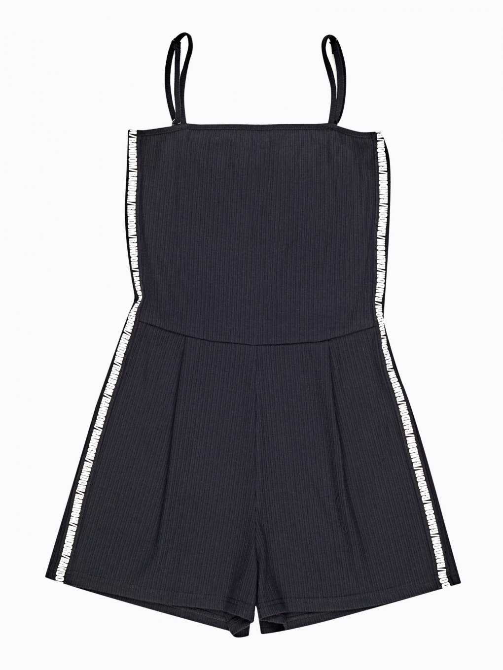 Taped short strappy jumpsuit
