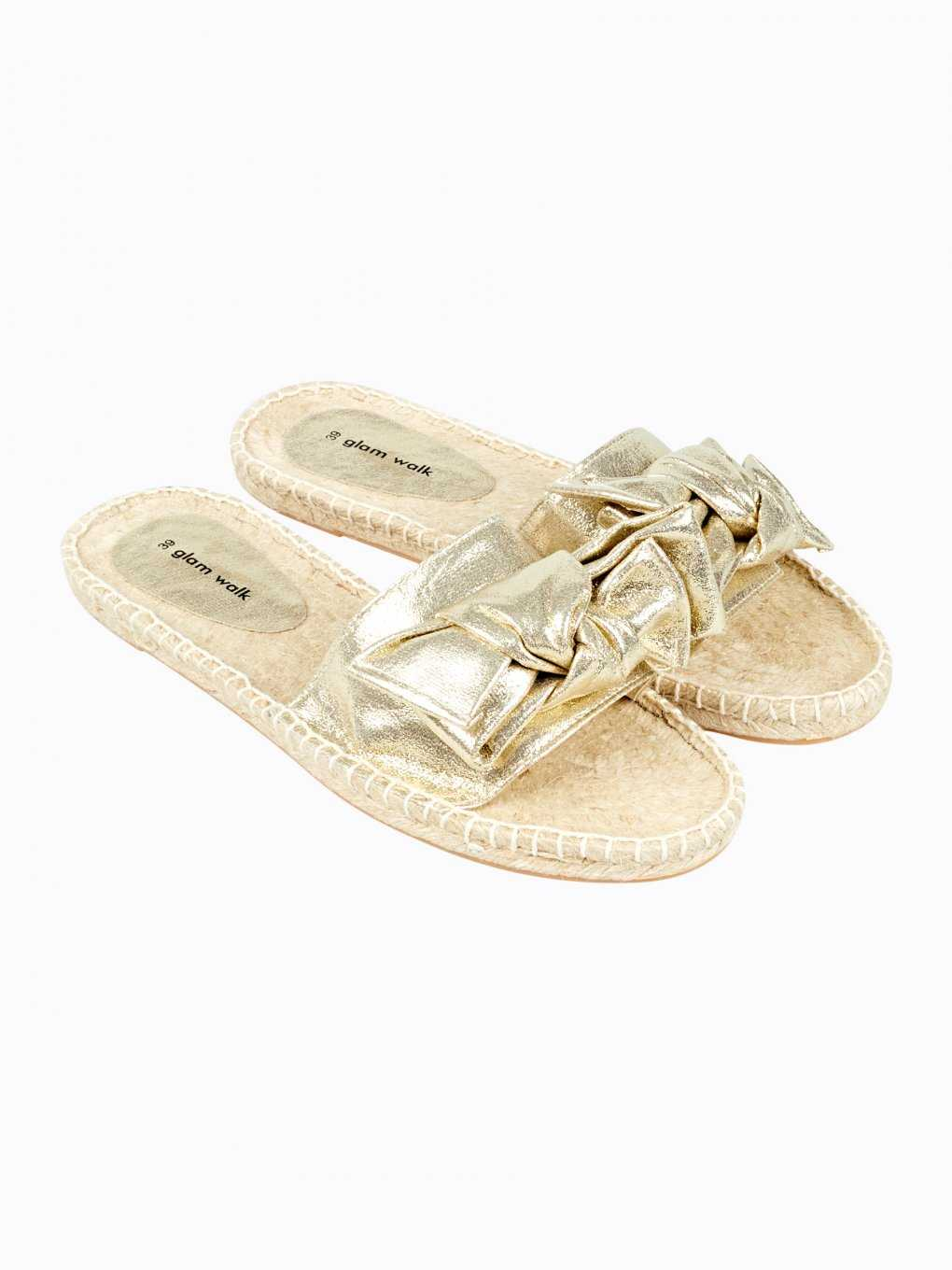 Jute slides with ribbon