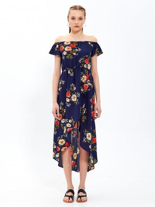 1cf121e8d9 Dlhé šaty s kvetinovou potlačou