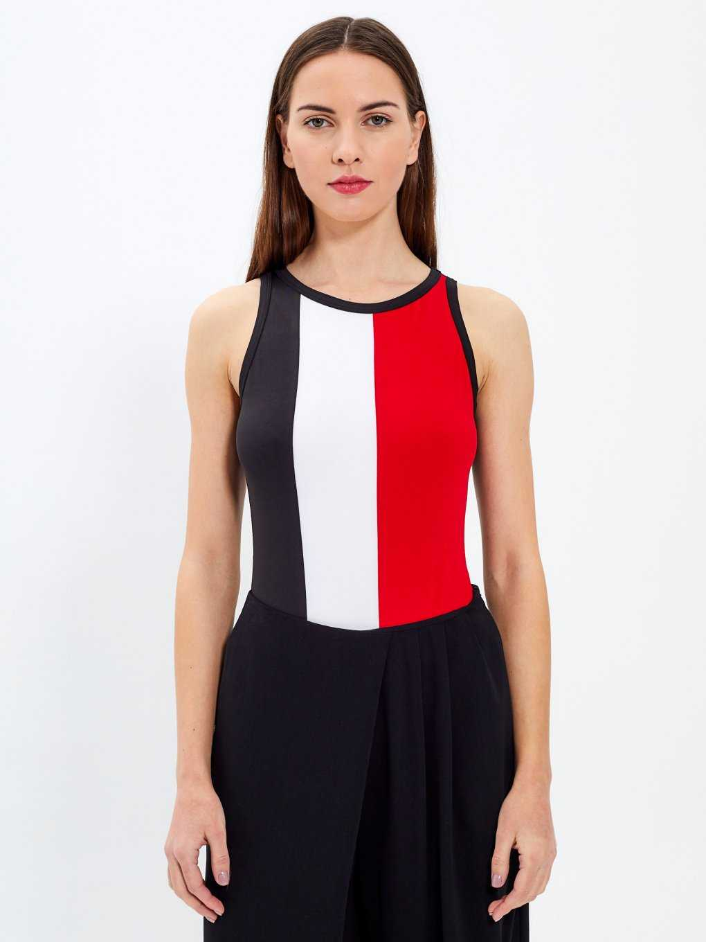 Colour block bodysuit