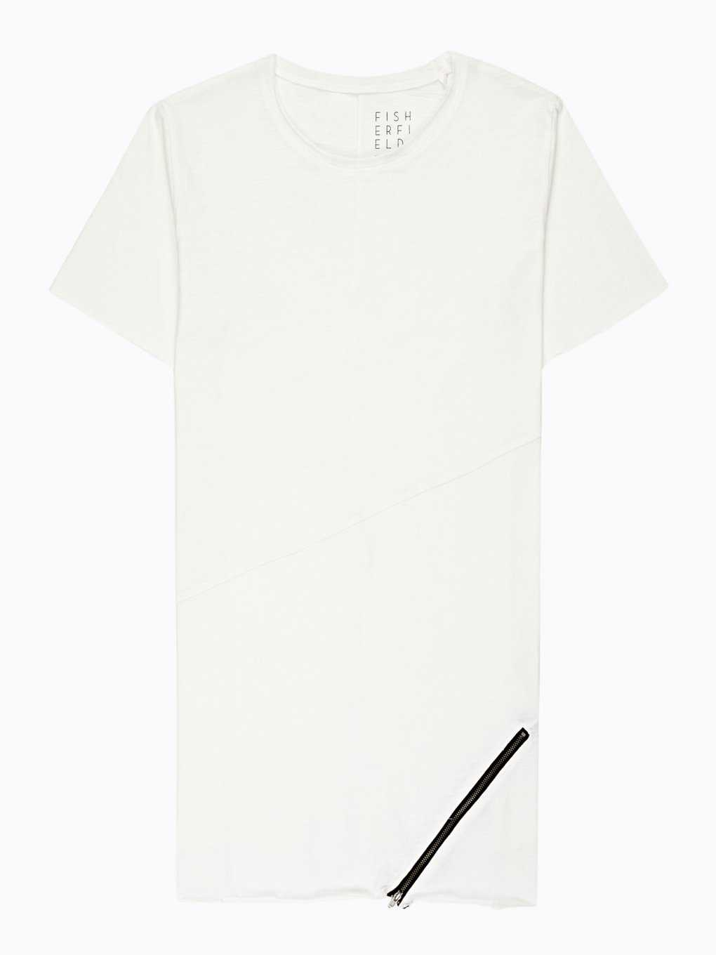 Longline t-shirt with zipper