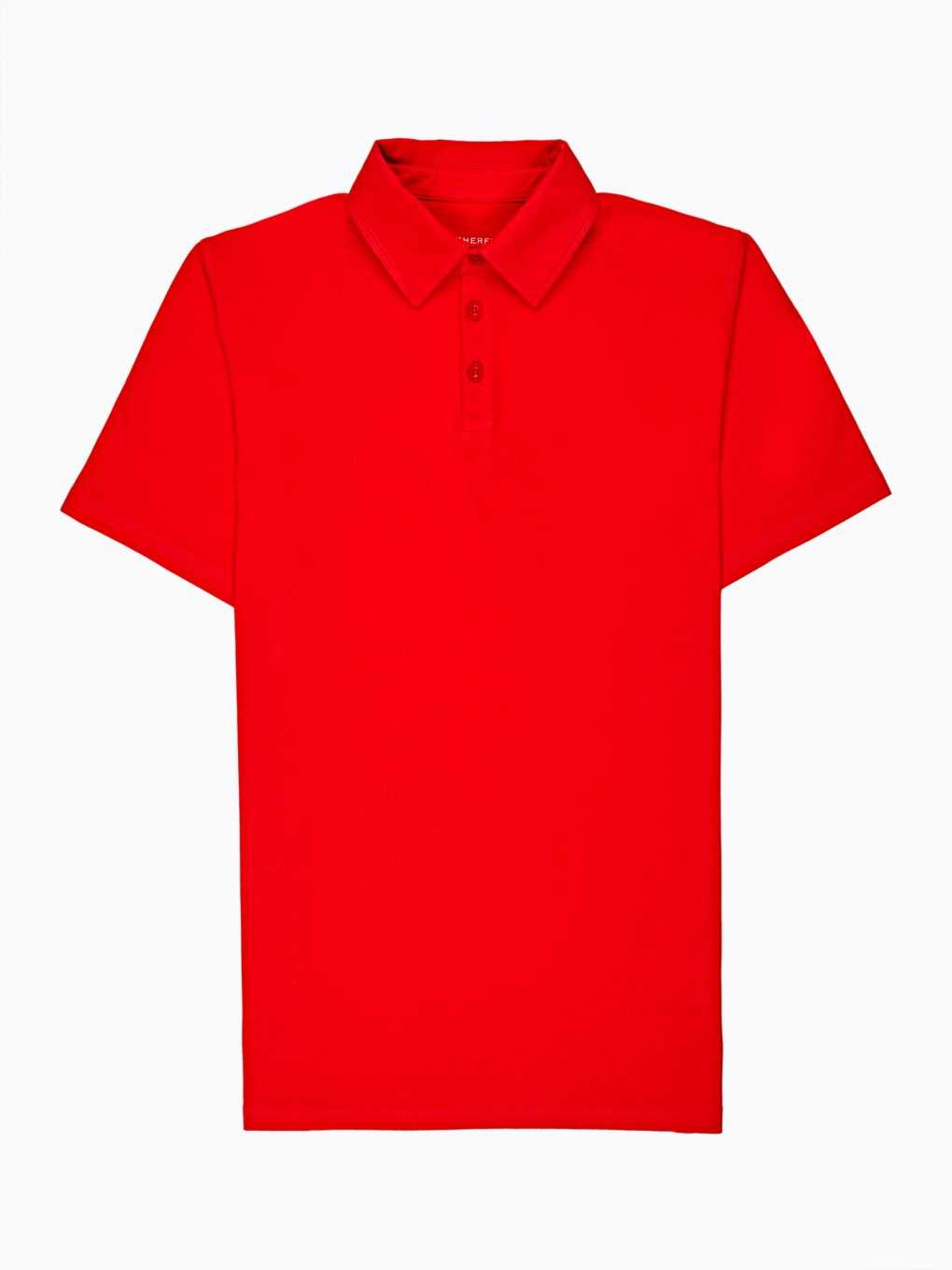 Basic stretch jersey polo shirt