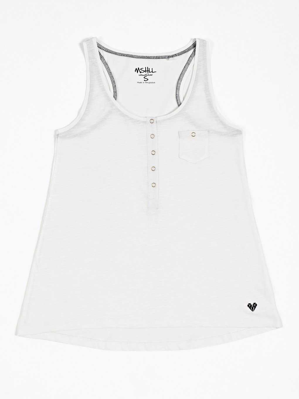 Tank top with front buttons
