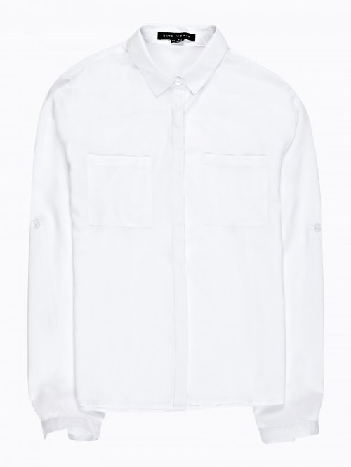 VISCOSE SHIRT WITH FRONT POCKETS