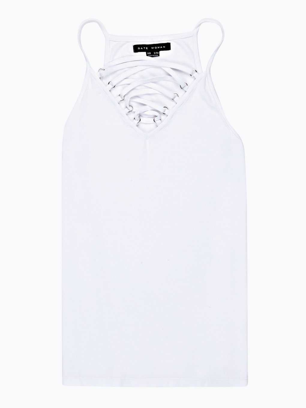 TANK TOP WITH FRONT LACING