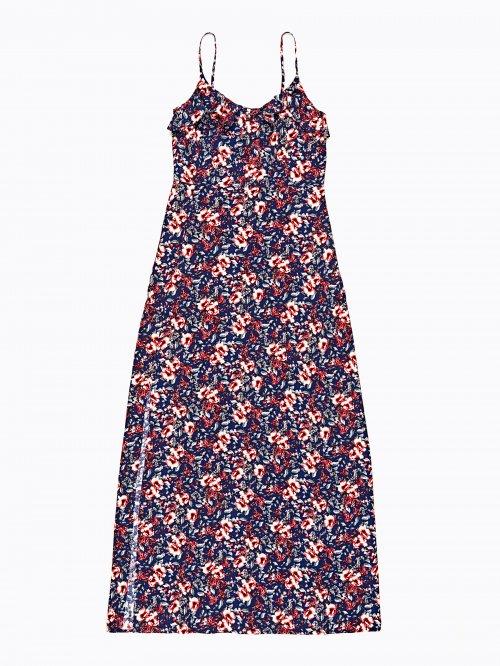 46a315239e6b Dlouhé šaty s květinovým potiskem