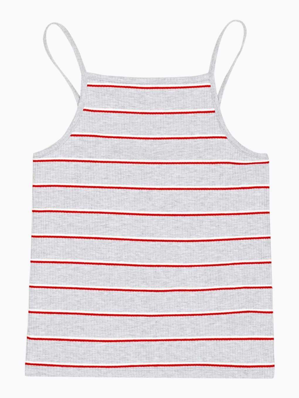 Striped ribbed tank