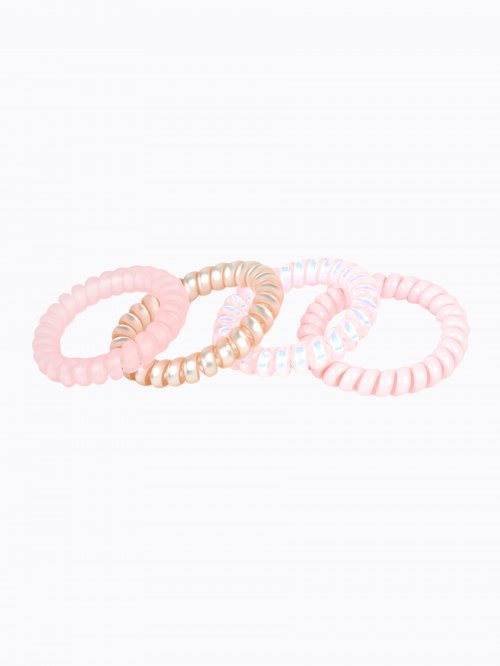 4-pack plastic rubber bands set