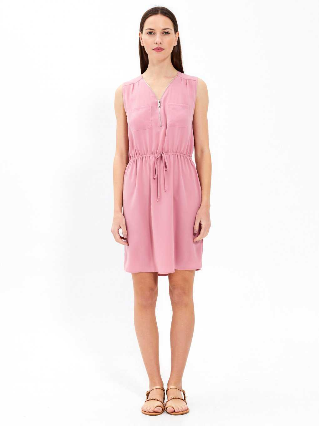 Plain seeveless dress