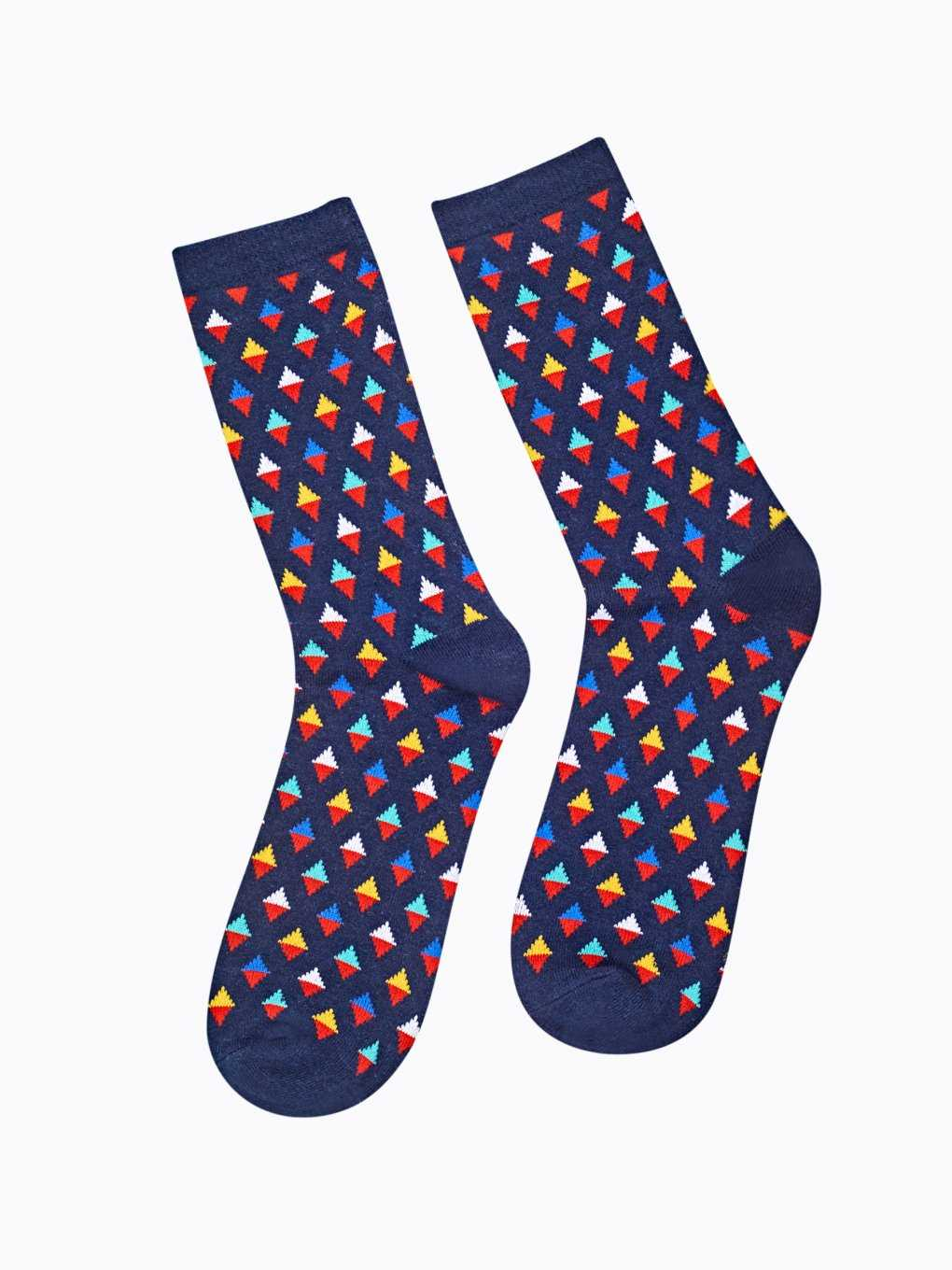 Patterned crew socks