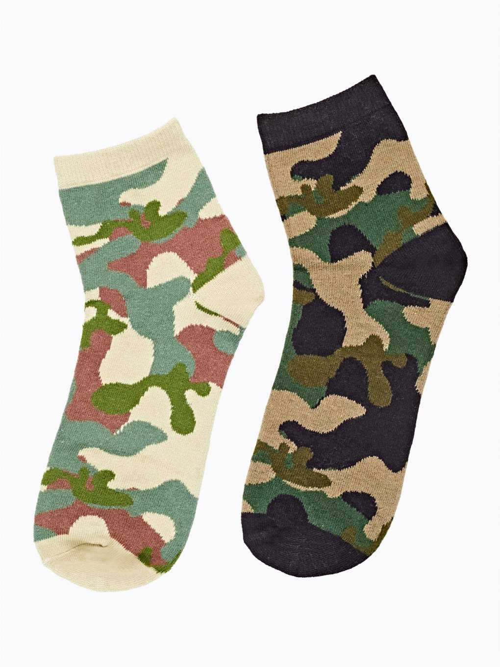 2-pack camo pattern socks