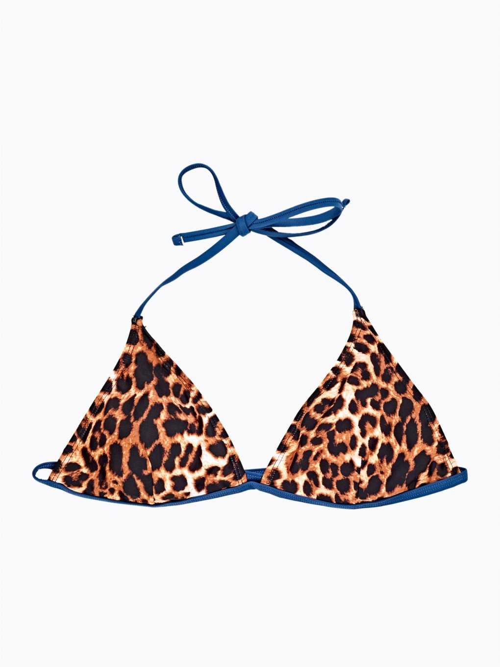 Animal print triangle bikini top