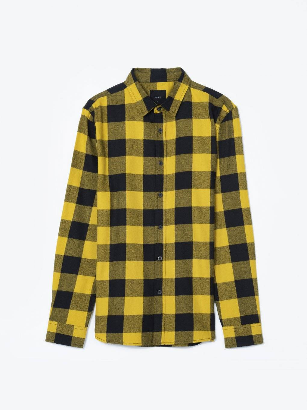 Plaid slim fit cotton shirt