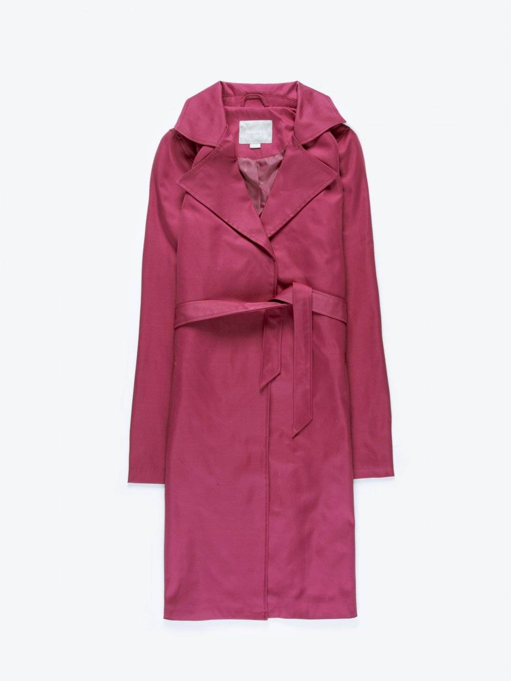 Plain belted duster coat