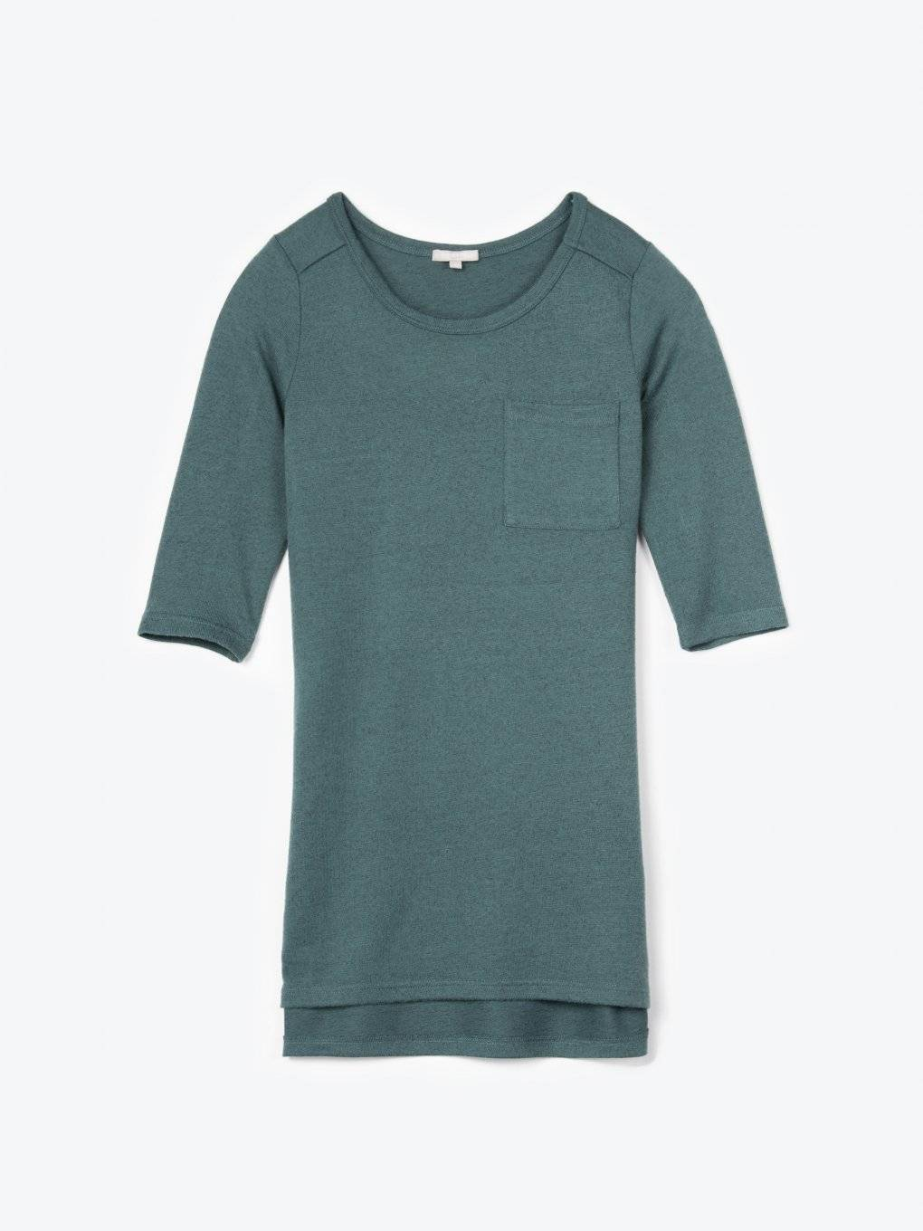 Longline top with chest pocket