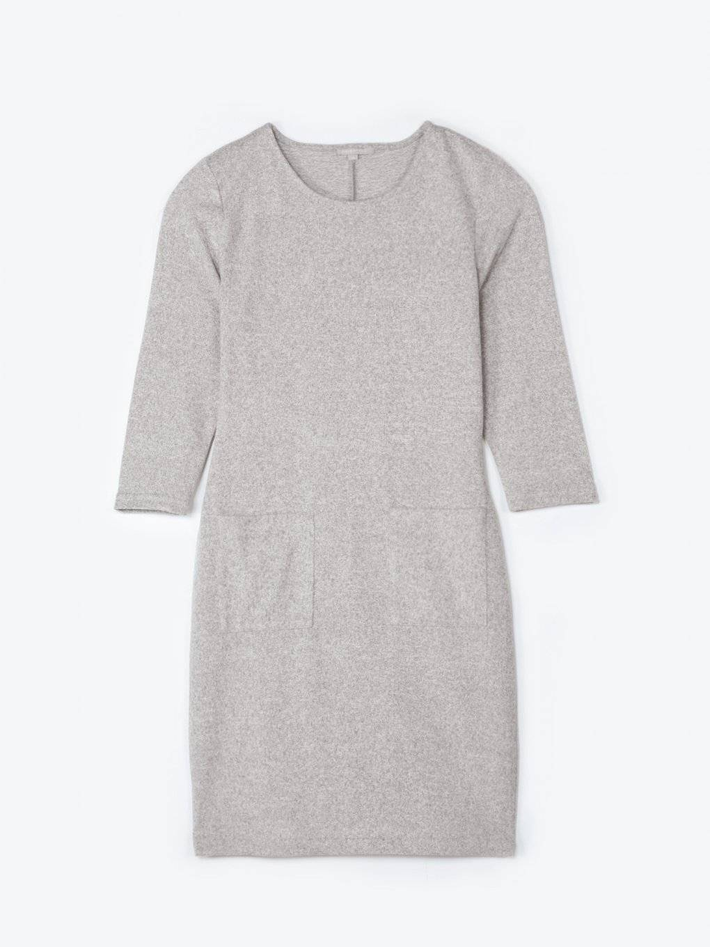 Knit dress with patch pockets