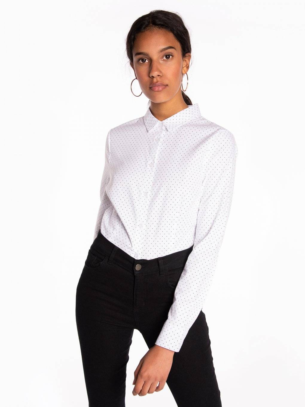 Stretchy slim fit shirt