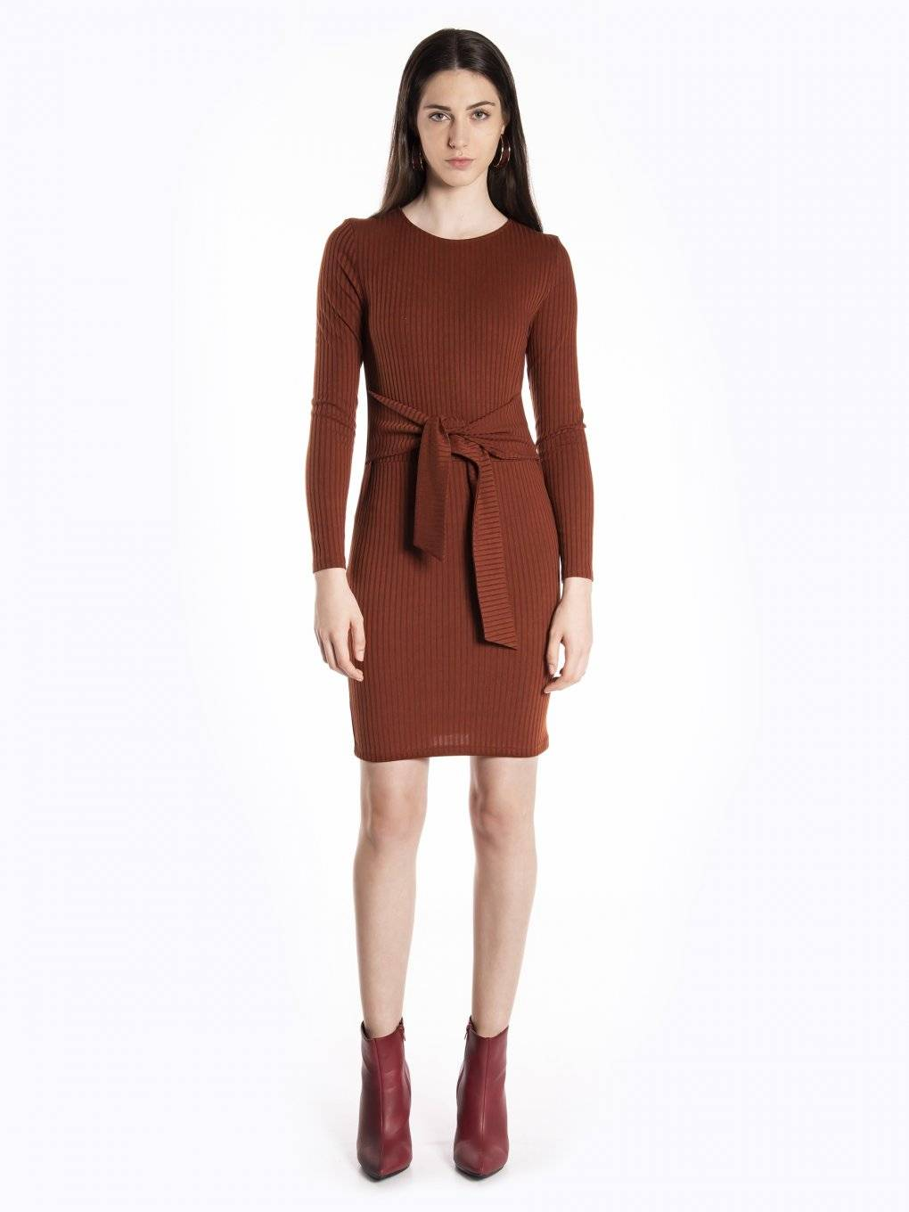 Bodycon dress with tie up detail