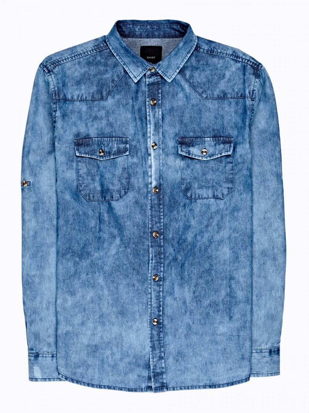SNOW WASH DENIM SHIRT