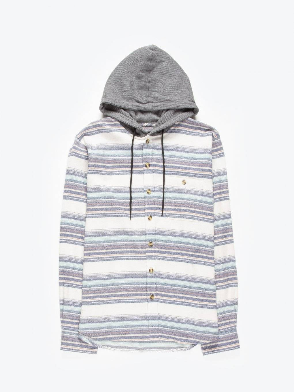 Striped shirt with hood