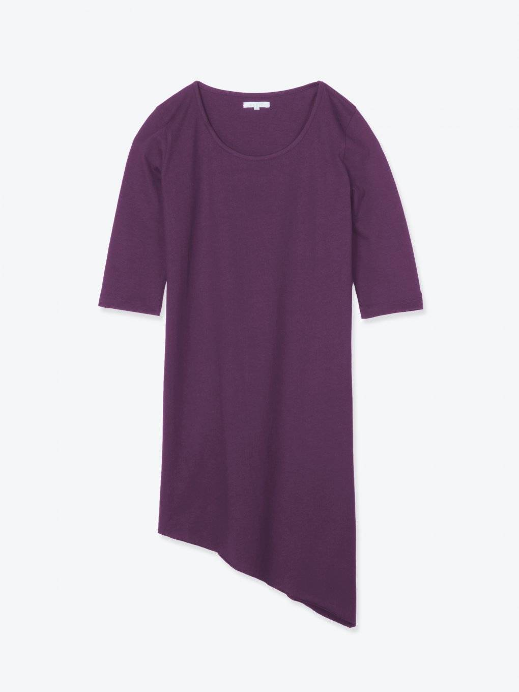 Longline t-shirt with asymmetric hem