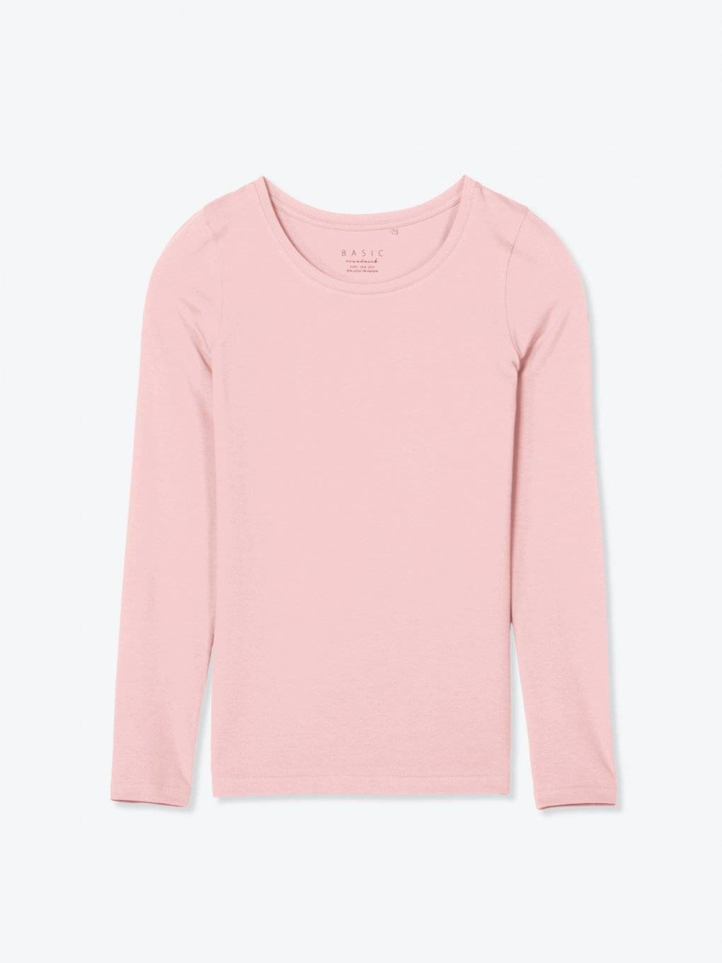 Basic stretch long sleeve t-shirt