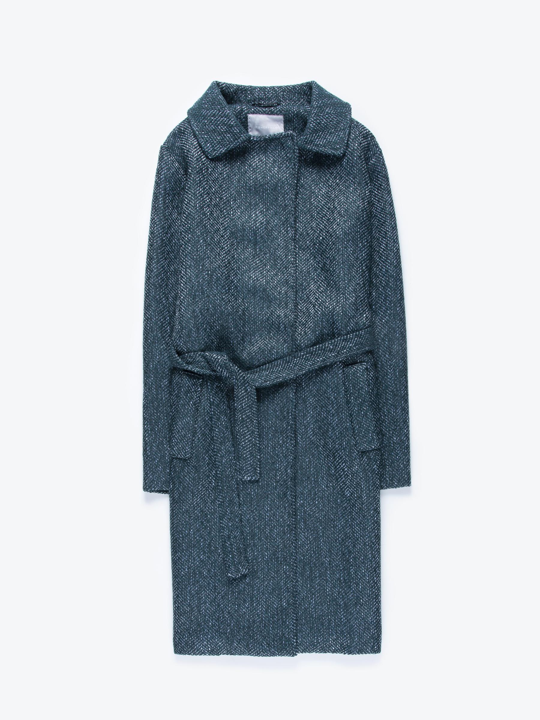 GATE Dlhý kabát s opaskom