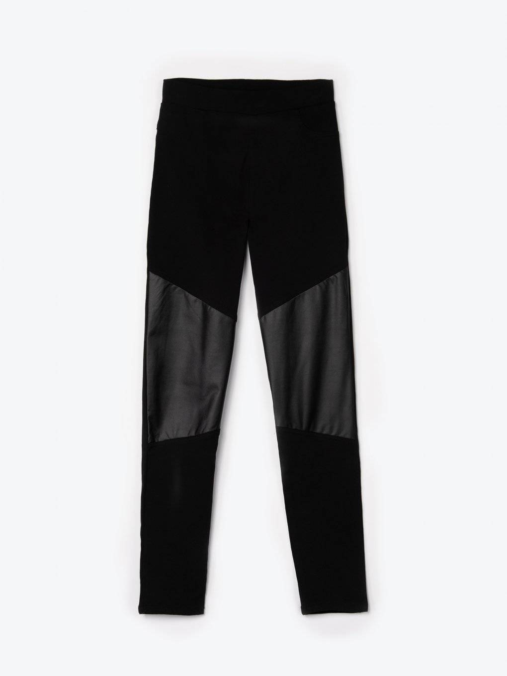 Combined slim trousers