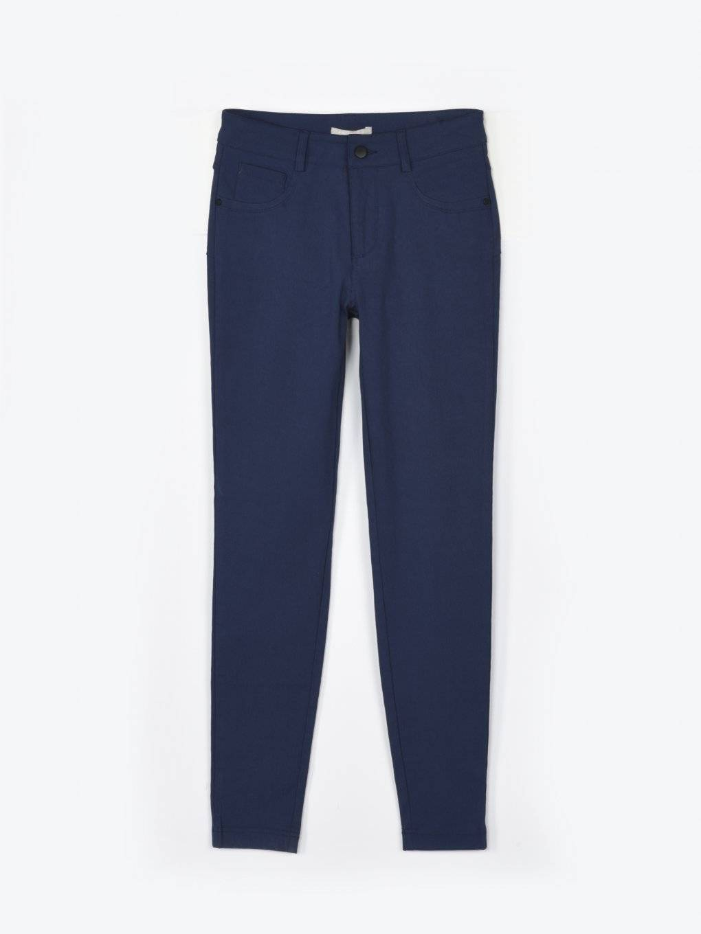 Elastic skinny trousers with push-up effect