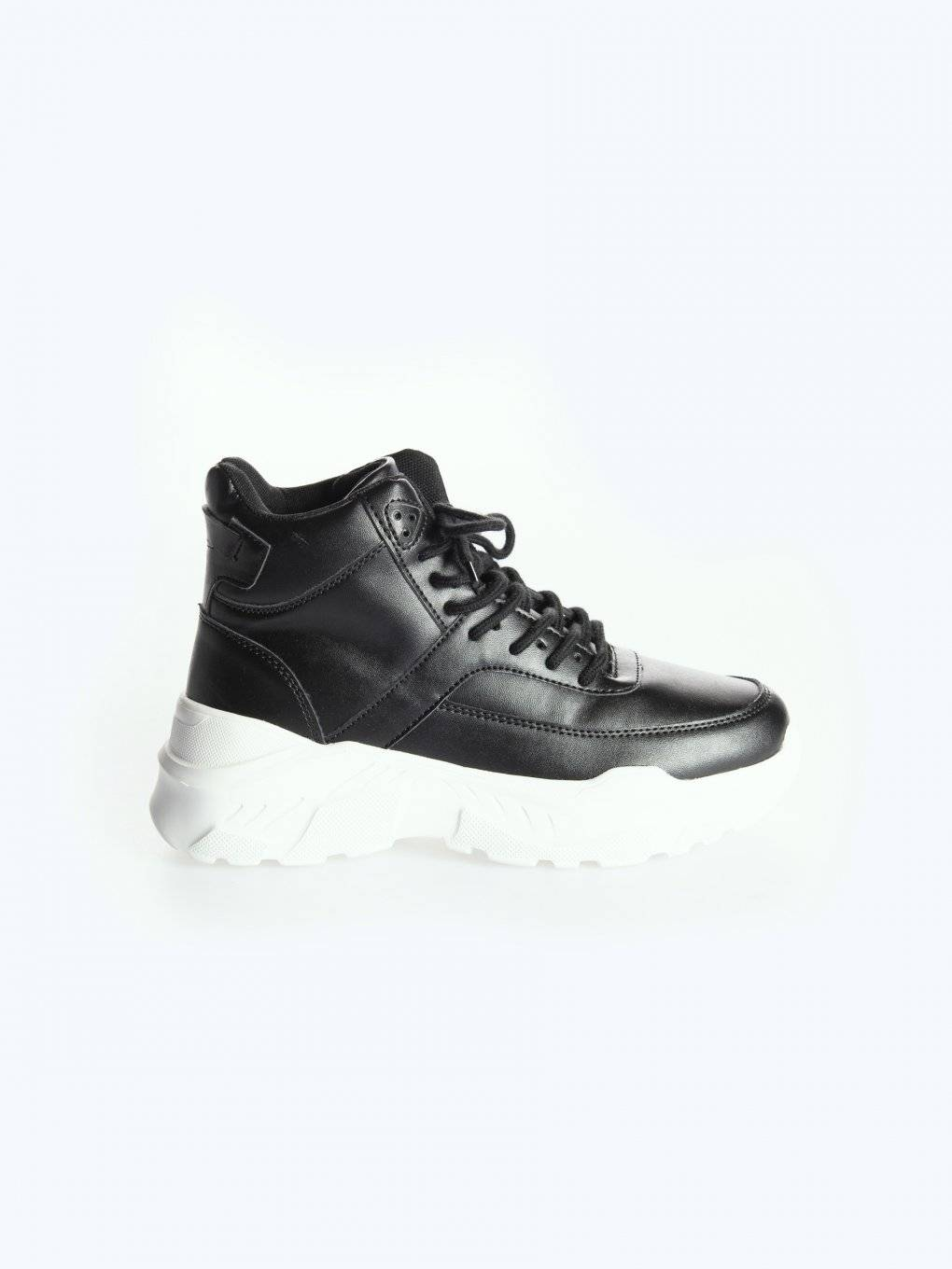 High-top chunky sneakers