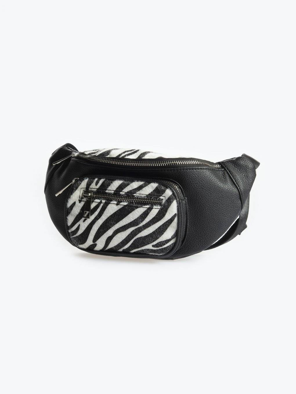 Bum bag with animal print details