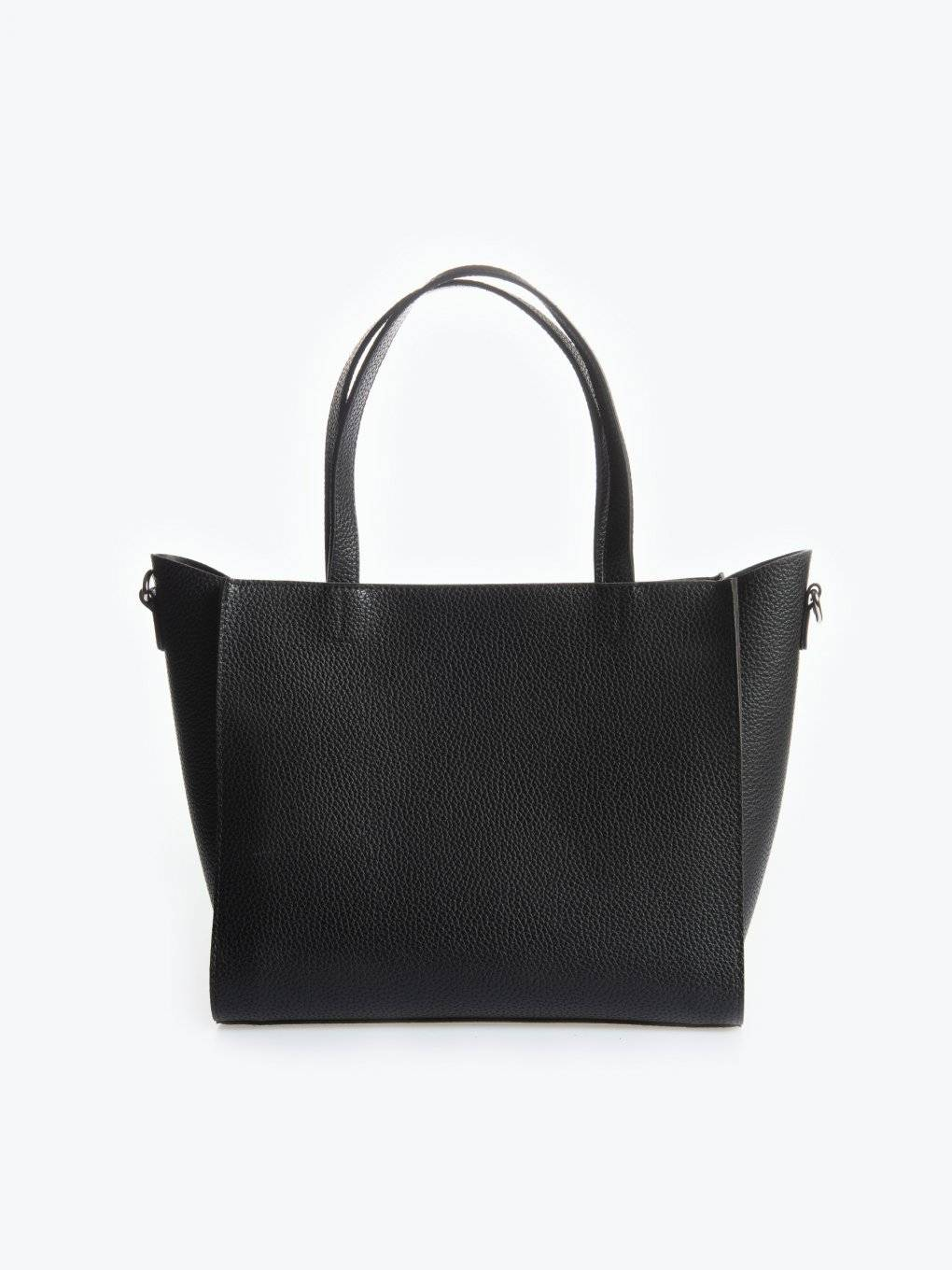 Faux leather city bag