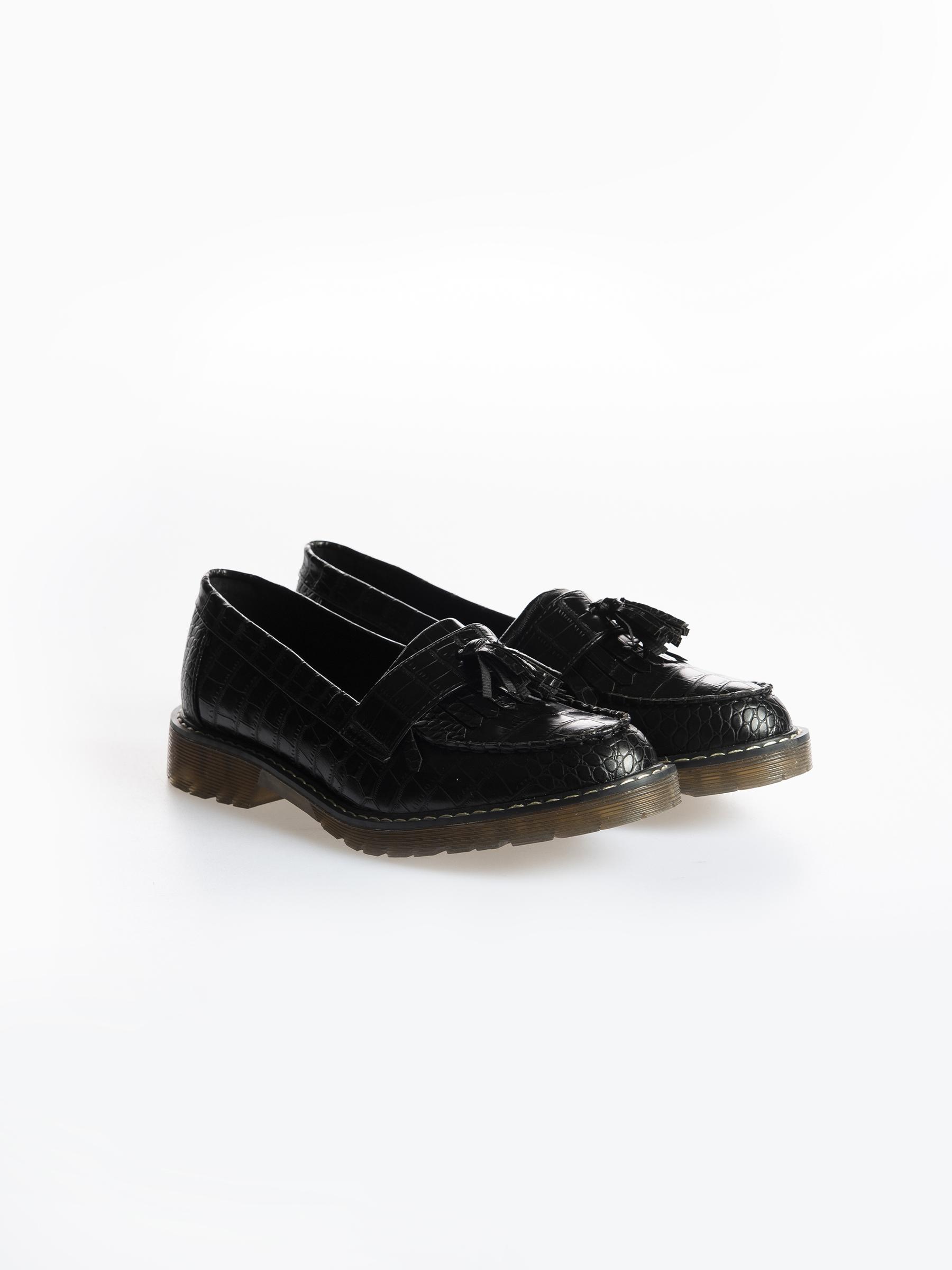 Levně GATE Boty loafers z imitace kůže se strurkturou