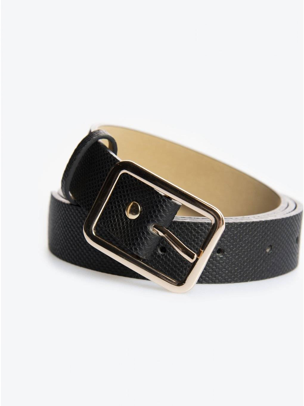 Belt with rectangle buckle